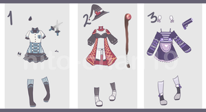 [Auction][CLOSED] Outfit Batch 11 by hito-chan19