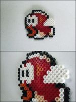 Super Mario 3 Cheep Cheep bead sprite by 8bitcraft