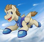 Crescent Moon in the Snow by BuizelCream