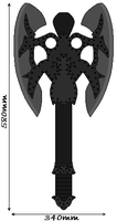 Double Bladed Mini Daedric Axe. by DexterTheFox