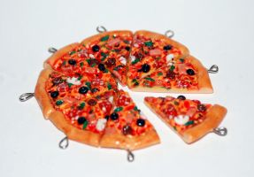 The Works Pizza Slices Charms by Arilou