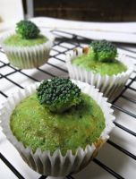 Broccoli Cupcakes by Sparrow-dream