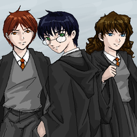 The Hogwarts Trio by girlinblack