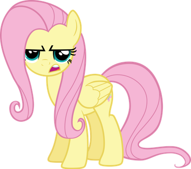 Fluttershy is Serious by CrunchNugget