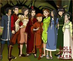Team Avatar in formal attire (Book 4: Aftermath) by AdrenalineRush1996