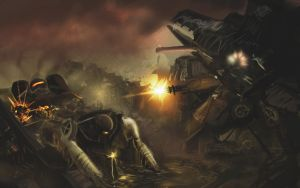 Mech Warzone by Alexlinde