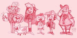 Gravity Falls by Ketey