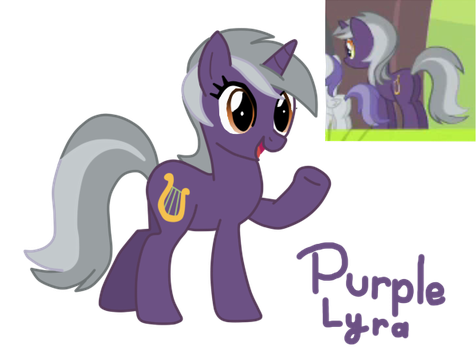 MLP Fan Name #2: Purple Lyra by CubaSandwichPL