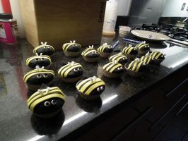 Bumble bees INVADE MY KITCHEN!!!!!!!!!! by MissNuttyTree