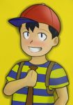 Ness and His Bat by Ranbooby