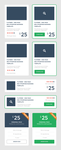 Free PSD - Set of Flat UI Promo Blocks by prestigedesign