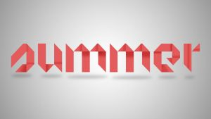 Summer Font Design (Origami Text) by 4and4