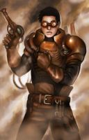 Commission- Steampunk Engineer by Lilith-the-5th