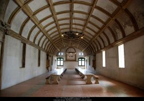 Monastery room I - Dining hall by Grinmir-stock