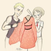P3/P4: Sewing Club for Bros by Alias-Hugo