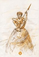 Future Boy Conan 10 min sketch by 2depaus