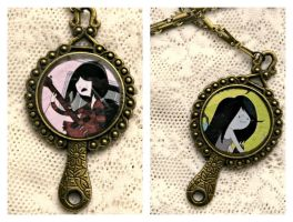 Adventure Time Marceline Double Sided Necklace by elllenjean