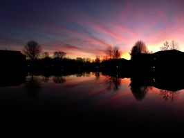 Sunset Reflection by OMNICRON8000