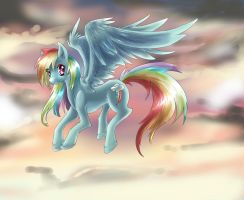 MLP: FiM RAINBOW DASH by dreampaw