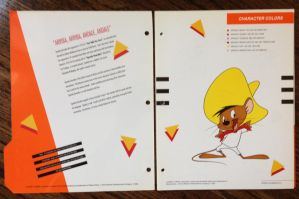 Speedy Gonzales Color Chart by guibor