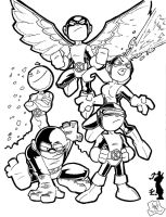 Lil X-men Inked by sketchinprican25