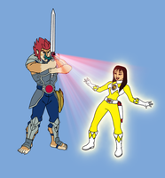 Commission - Lion-O and Trini by FantasyFlixArt