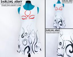Amaterasu Okami Printed Cosplay Dress by DarlingArmy