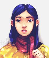 COraline! my favourite gal!! by FloralZero