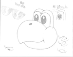 (Sketch) Koopa Troopa head by MarioMaster15