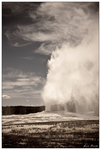 Old Faithful Aged BW by DarkMatter77