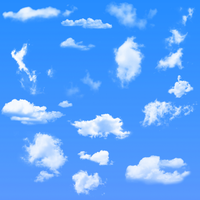 16 Cloud Brushes For Gimp by darkdissolution