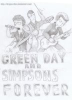 green day and Simpsons forever by dragon-flies