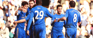 CFC players celebrating the goal against Brentford by DONICFC