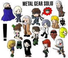 MGS - Metal Gear Solid Chibis by ryoshockwave