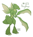 123 - Scyther by Electrical-Socket