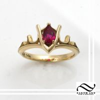 Goron's Ruby Engagement ring 14k by mooredesign13
