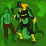 BatGirl vs Croc Tf 5 by Dragon-Storm