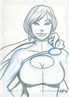 PowerGirl Card by Nortedesigns