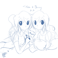 PC: Silvi and Sunny doodle by sugar-skull-demon
