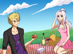 LaxusxMirajane- Spring .:Commmision:. by Inspired-Destiny