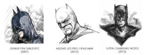 Three Batmans, Different Stylus/Devices by kimgobartolome