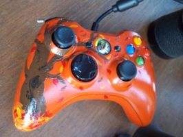 Fall Themed Xbox 360 Controller. by SrgtToasty