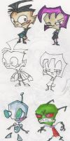 some zim sketches by cosmosmetal