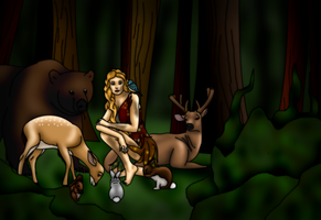 Commission: Elfriede in the Wild by FalseDisposition