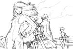 three people and a bike by edwardgan
