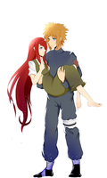 Minato and Kushina by Sephealia