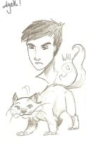 Will Parry and his daemon by Agatha-Macpie