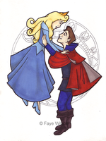 commission: Aurora and Philip by Violet--Gypsy