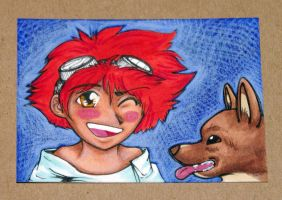Ed and Ein - ATC by RivkahWinter
