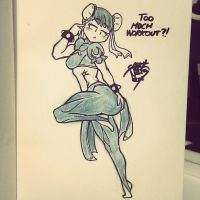Too much workout, ChunLi? by GauntNoir